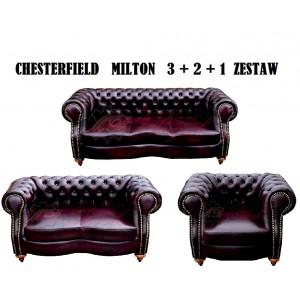 "Zestaw Chesterfield ""Milton"" 3 + 2 + 1"