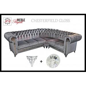 Narożnik Chesterfield Gloss