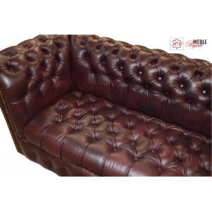 Sofa trzy-osobowa Chesterfield Classic pikowane siedzisko