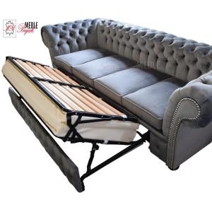 Sofa cztero-osobowa Winchesterfield! z funkcją spania