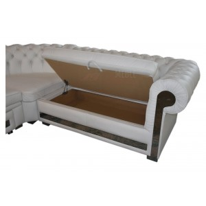 Narożnik Chesterfield  White Gloss !