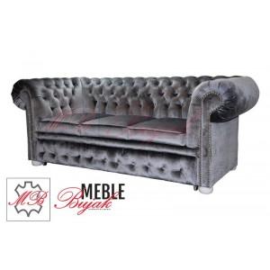 Sofa trzy-osobowa Chesterfield Classic + funkcja spania!