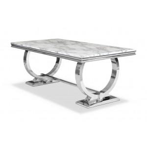 Stół glamour stal srebro polerowana SG 890 200cm/100cm